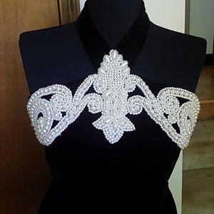 Vintage Jessica McClintock Velvet Halter Dress